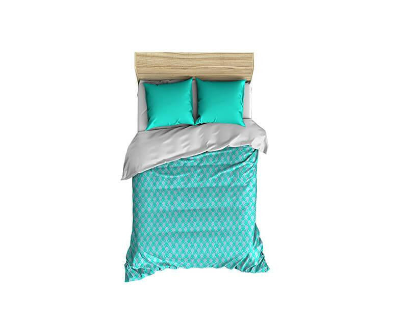 Scales Turquoise and Gray Small Comforter - WallLillies