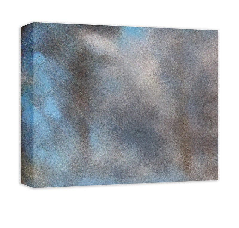 Snow Covered Trees III Abstract Canvas Wall Art