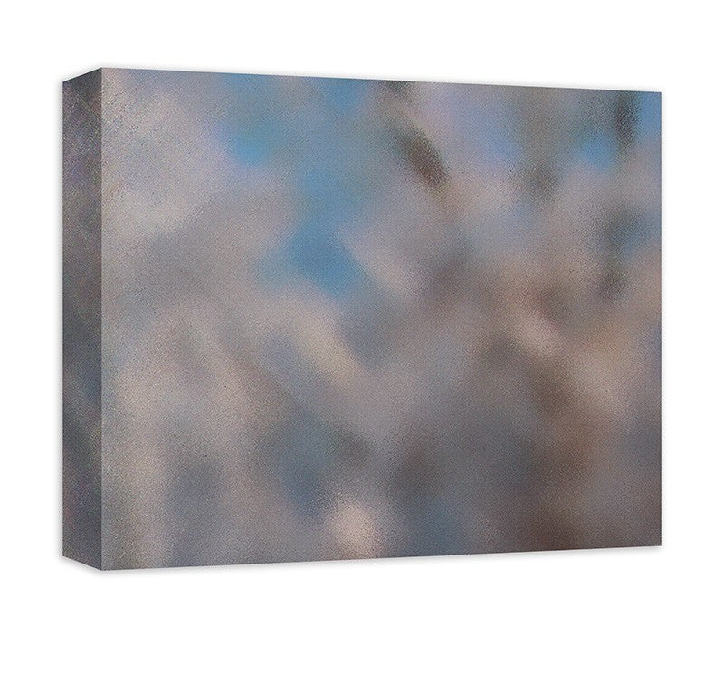 Snow Covered Trees II Abstract Canvas Wall Art