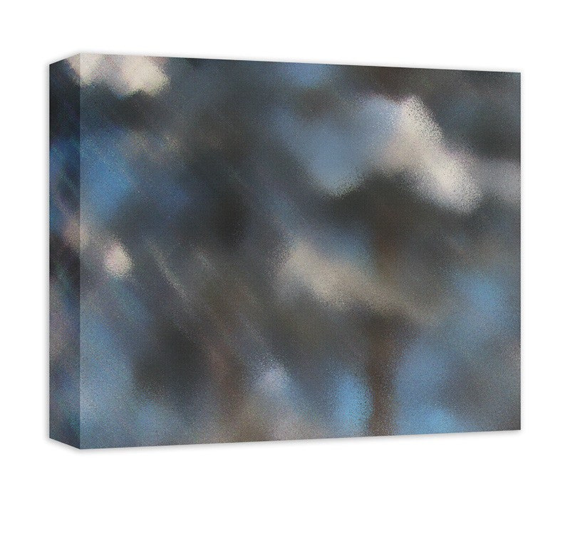 Snow Covered Trees I Abstract Canvas Wall Art - WallLillies