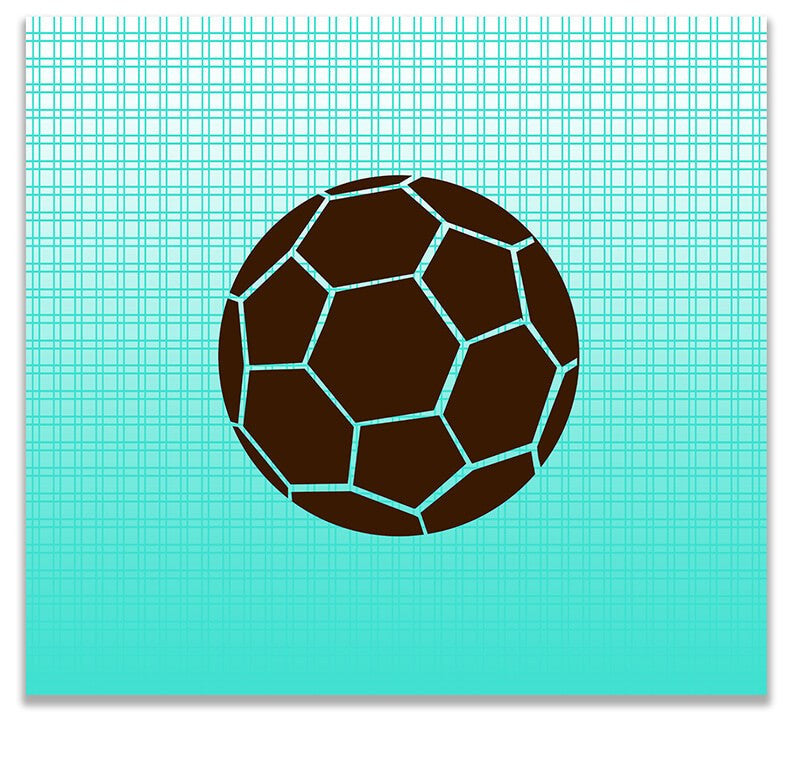 Kids Soccer Ball Print Wall Art - WallLillies