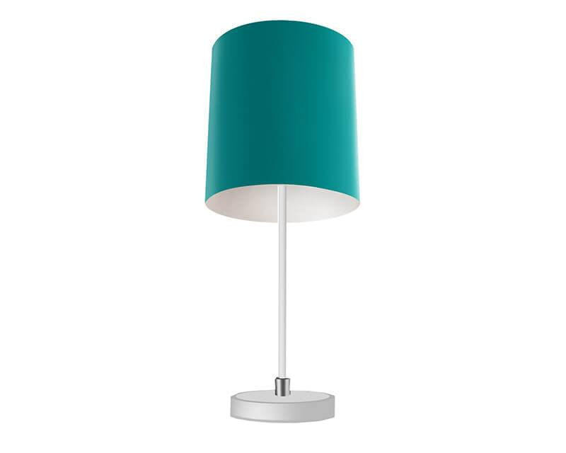 Solid Teal Table Lamp