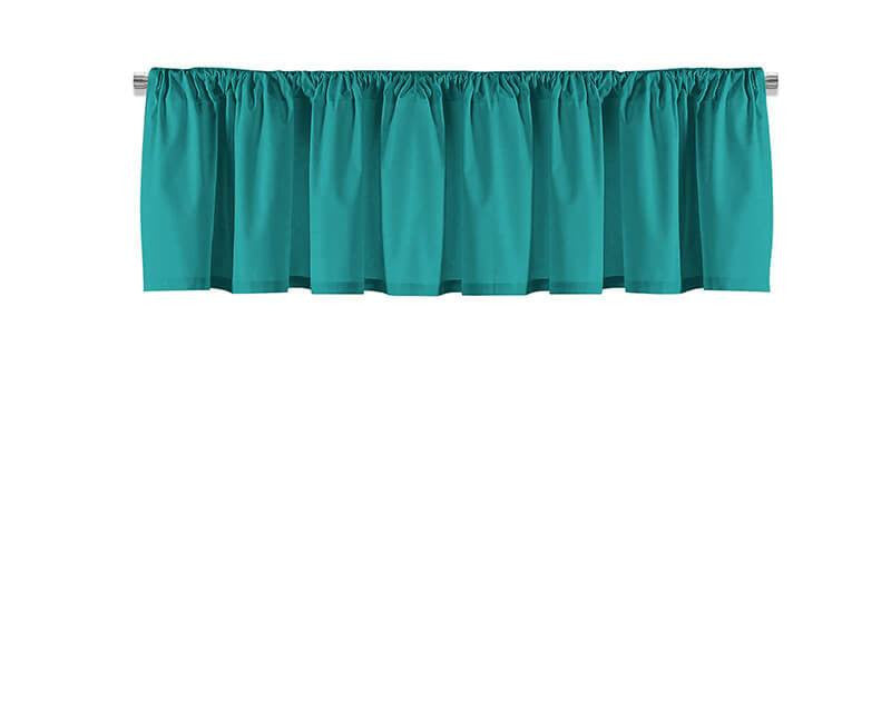 Solid Teal Valance