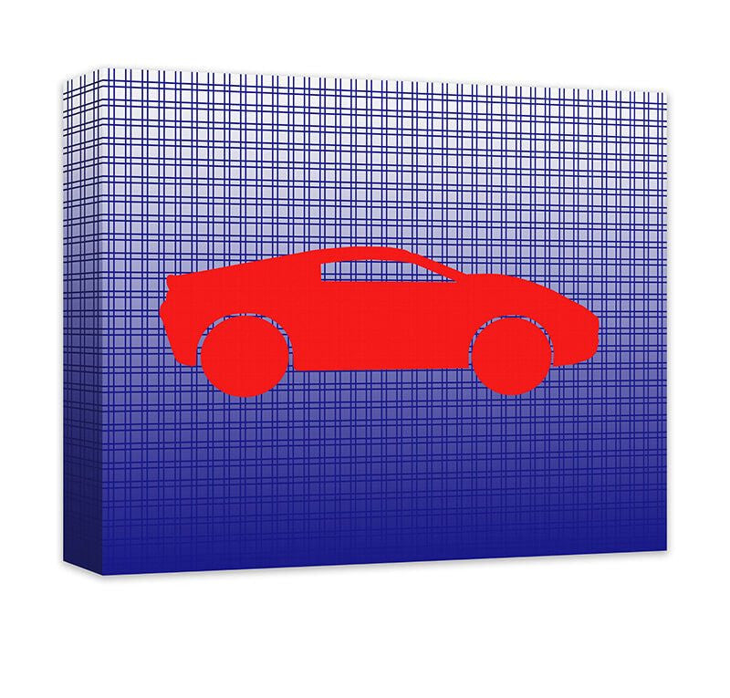 Race Car Children's Canvas Wall Art