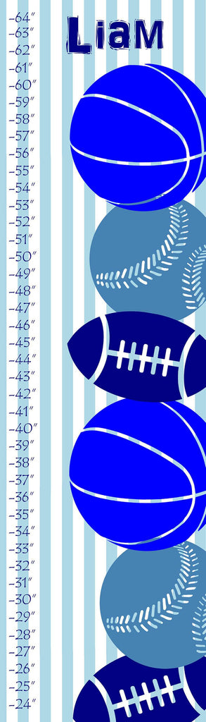 Personalized Sports Collage Growth Chart