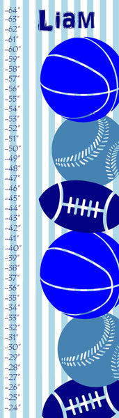 Personalized Sports Collage Growth Chart - WallLillies