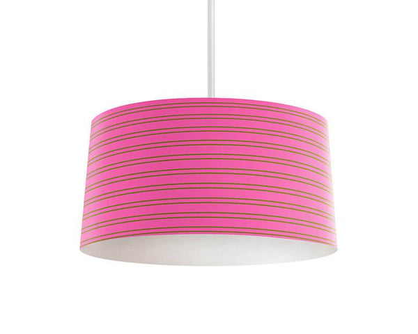 Lime Green and Pink Stripes Pendant Lamp