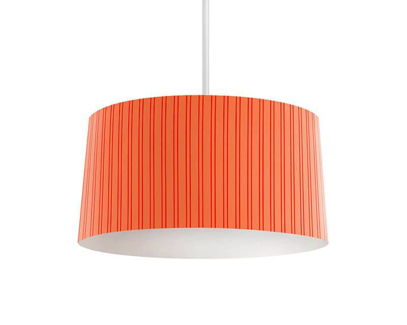 Red and Coral Stripes Pendant Lamp
