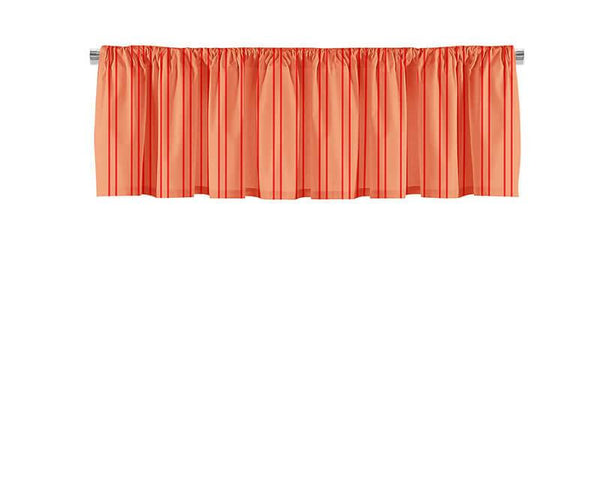 Red and Coral Stripes Valance