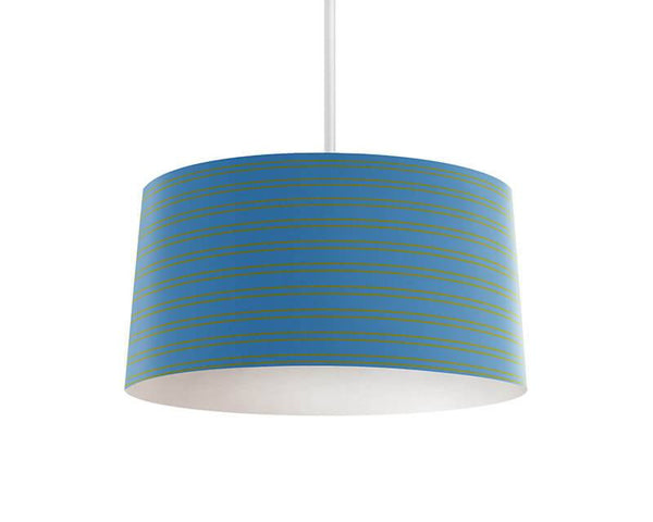 Steel Blue and Olive Stripes Pendant Lamp