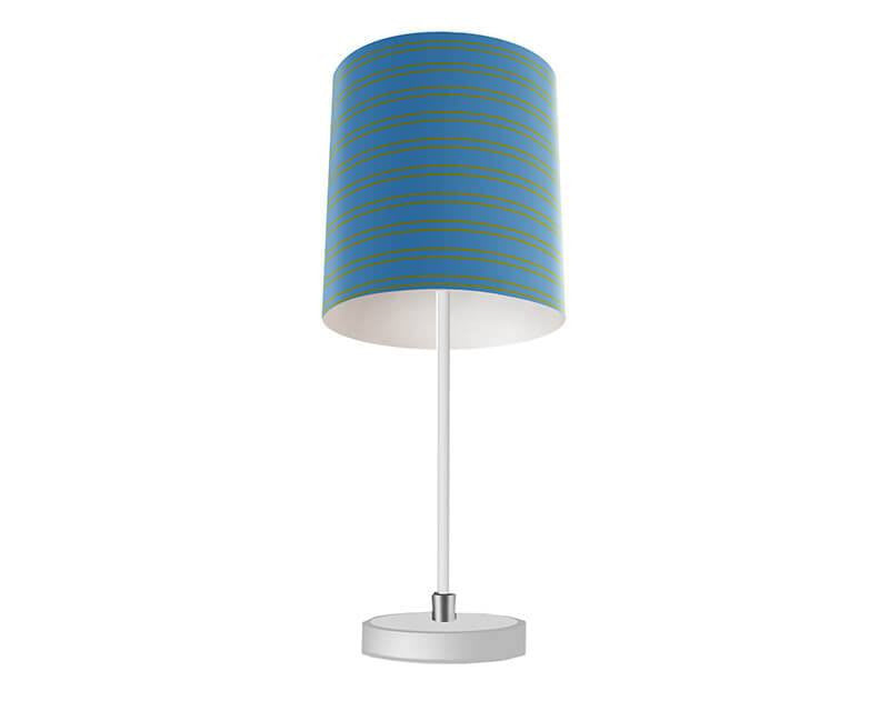 Steel Blue and Olive Stripes Table Lamp