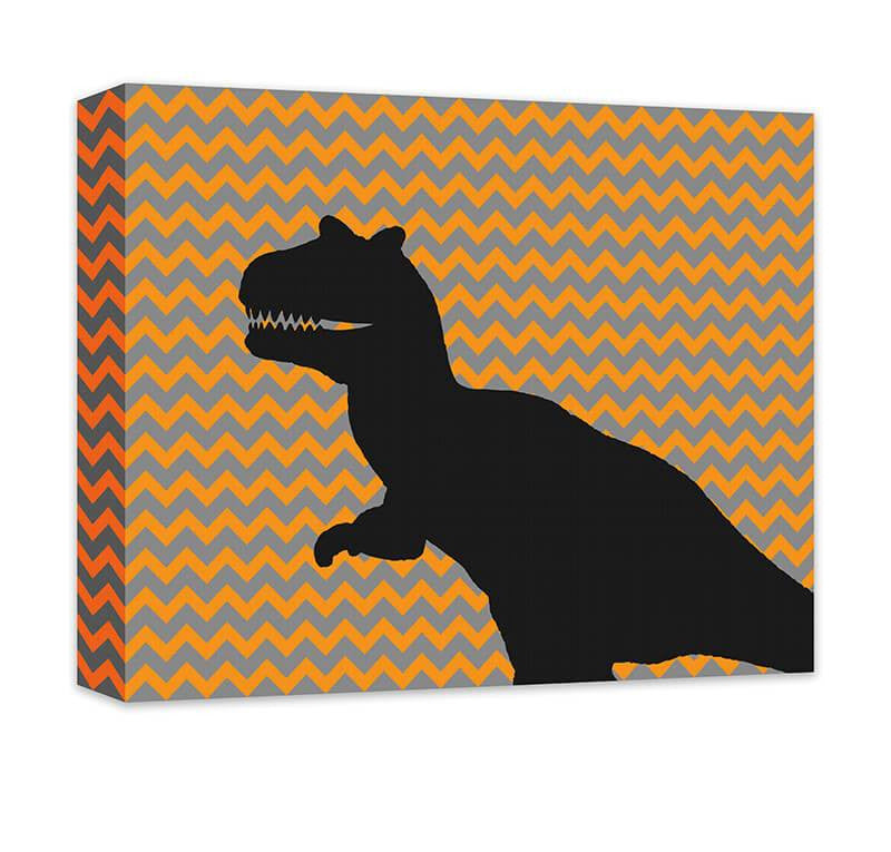 T-Rex Children's Canvas Wall Art