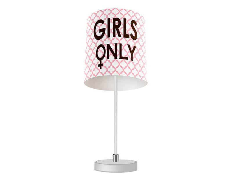 Girls Only with Symbol Table Lamp - WallLillies