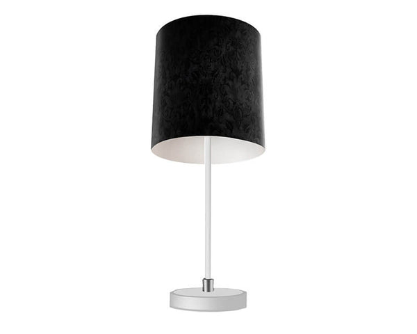 Black Brocade Table Lamp - WallLillies