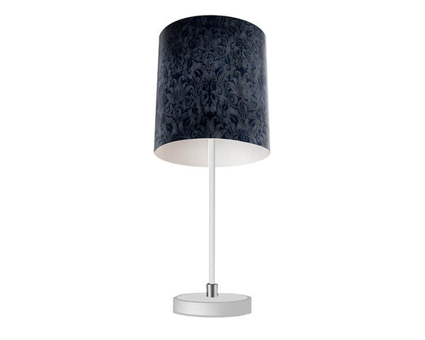 Blue Brocade Table Lamp - WallLillies