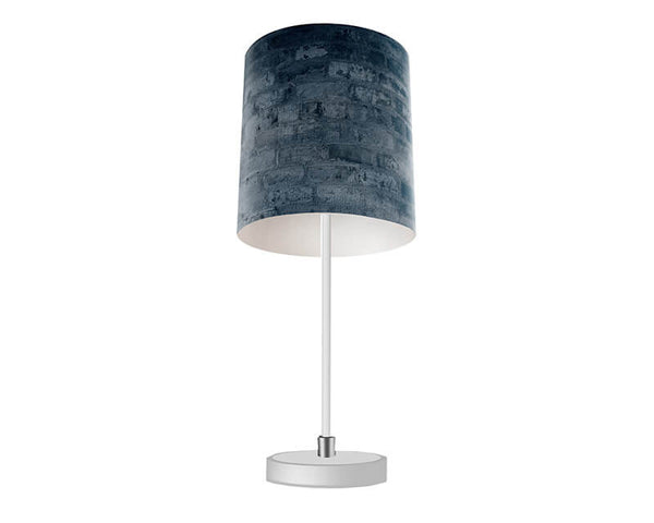 Cool Blue Brick Table Lamp - WallLillies