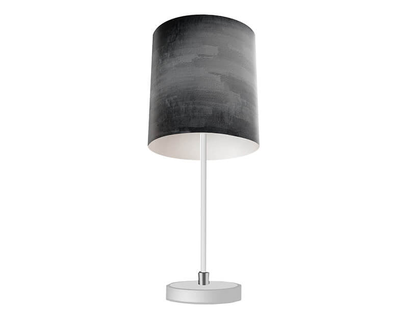Gray Grunge Table Lamp - WallLillies