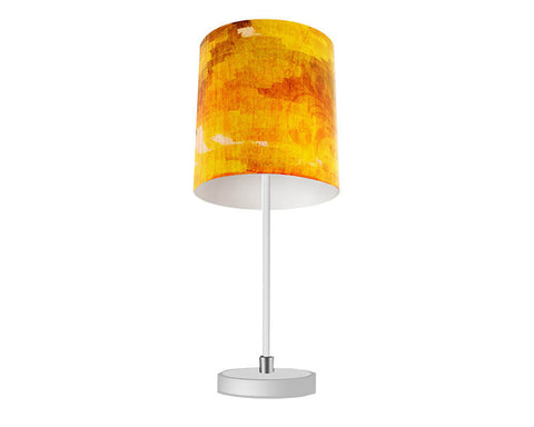 Red Floral Sunset Table Lamp