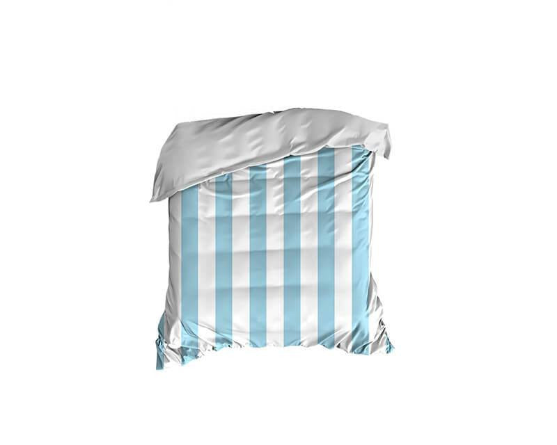 Light Blue Thick Stripes Crib Comforter - WallLillies