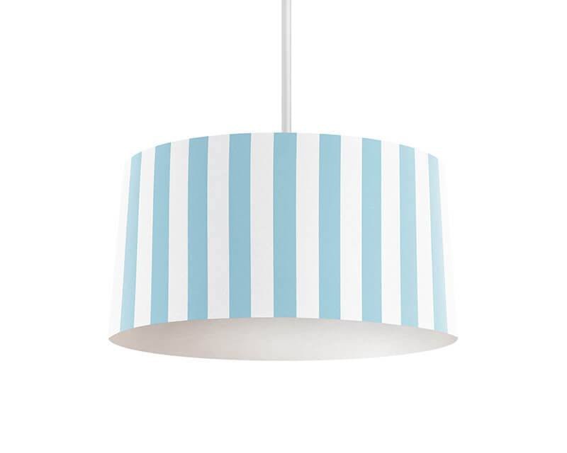 Light Blue Thick Stripes Pendant Lamp - WallLillies