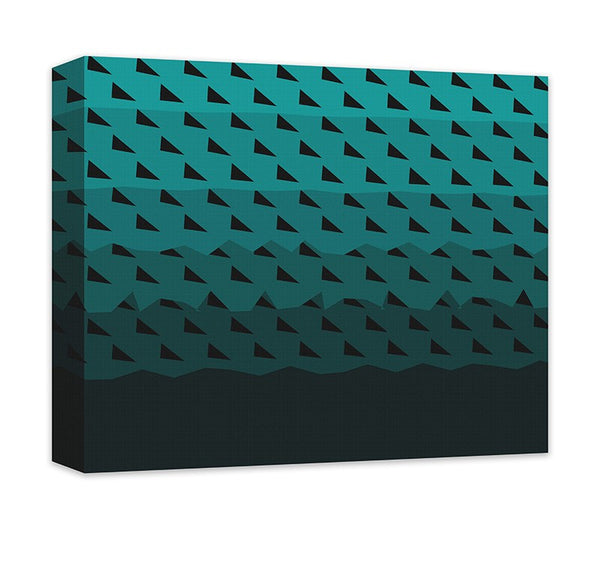 Triangular Synergy Abstract Canvas Wall Art