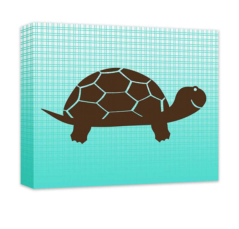 Turtle I Children's Canvas Wall Art - WallLillies