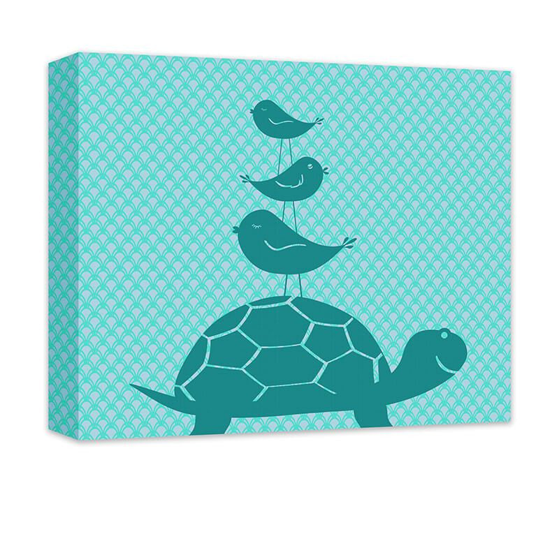 Turtle and Birds Canvas Wall Art and Print Wall Art - WallLillies
