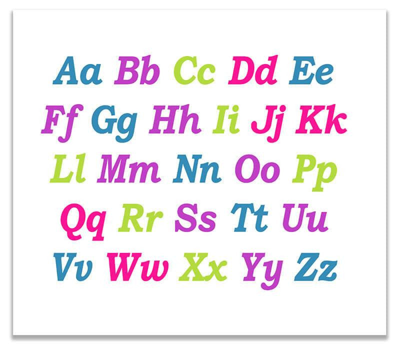 Upper and Lower Case Alphabet Print Wall Art