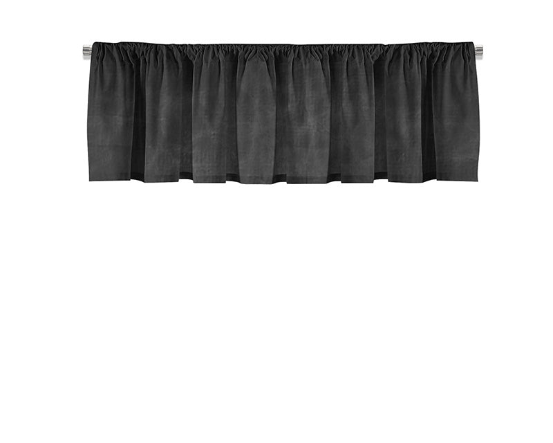 Black Leather Valance - WallLillies