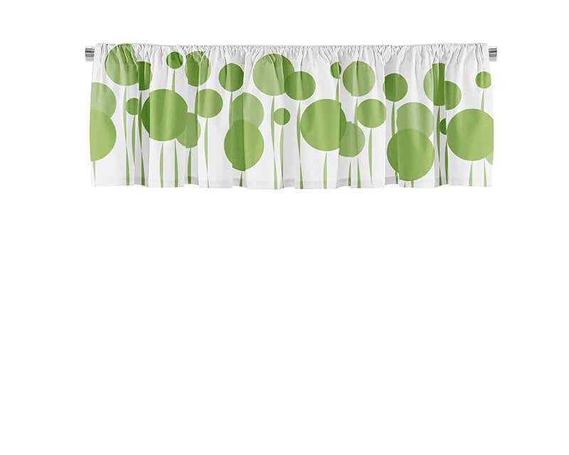 Abstract Dandelions Valance
