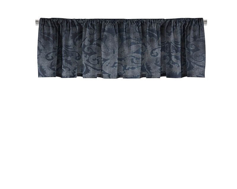 Blue Brocade Valance - WallLillies