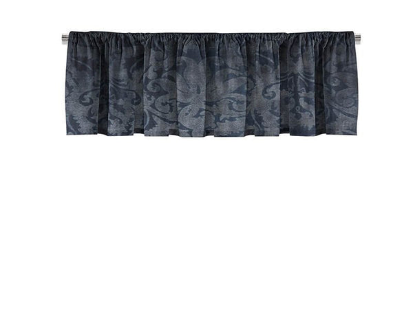 Blue Brocade Valance