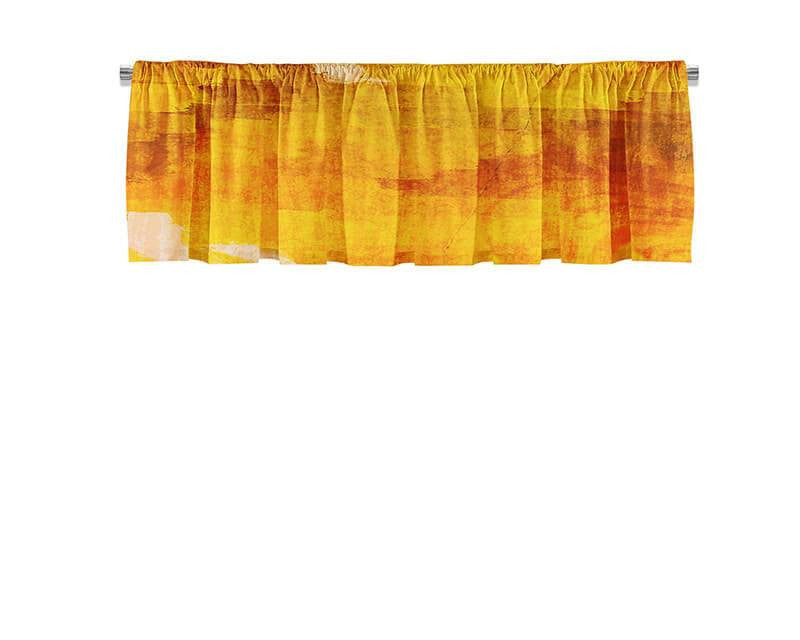 Red Floral Sunset Valance