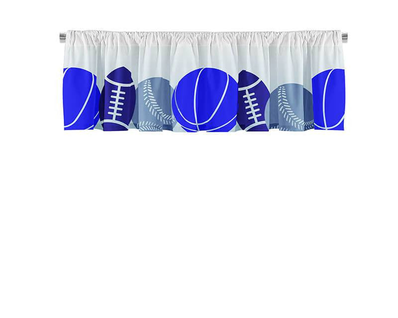 Sports Collage Valance - WallLillies