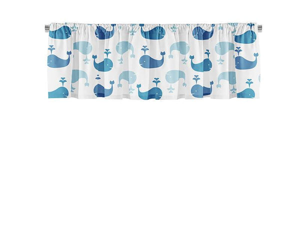 Whale Pattern Valance - WallLillies