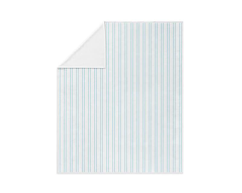 Light Blue Vertical Stripes Fleece Blanket - WallLillies