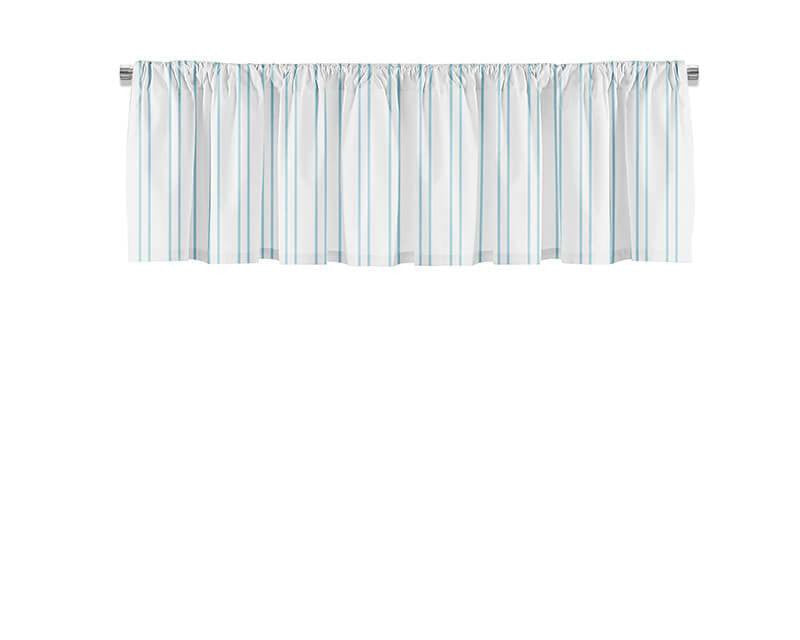 Light Blue Vertical Stripes Valance - WallLillies