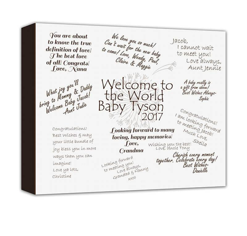 Welcome to the World Well Wishes Canvas Wall Art
