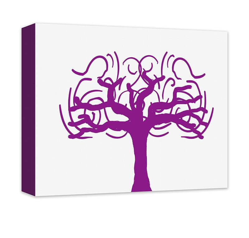 Whimsical Tree Canvas Wall Art