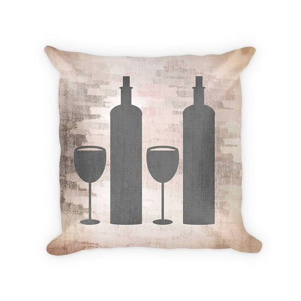 Wine Duo Woven Cotton Throw Pillow