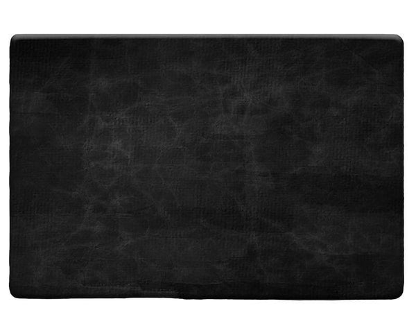 Black Leather Plush Rug - WallLillies