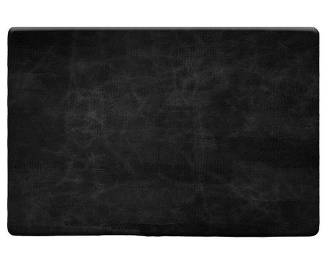 Black Leather Plush Rug