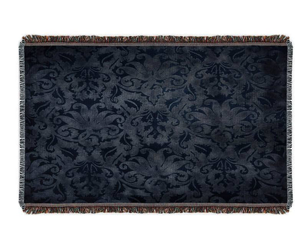 Blue Brocade Woven Blanket - WallLillies