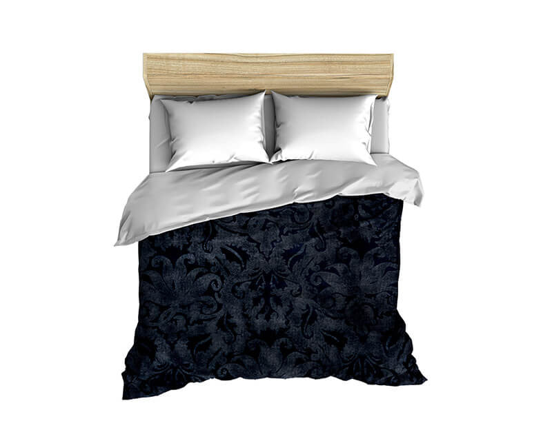 Blue Brocade Comforter - WallLillies