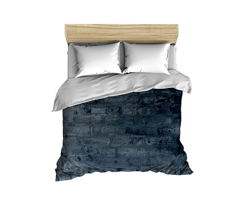 Cool Blue Brick Comforter - WallLillies