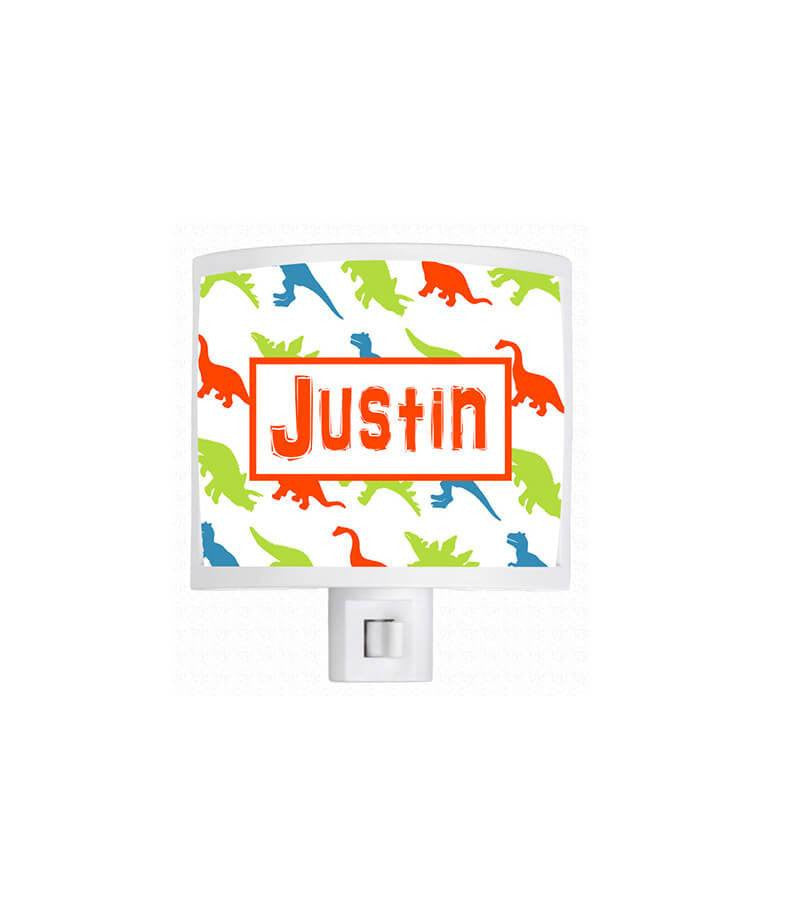Personalized Dinosaur Pattern Night Light