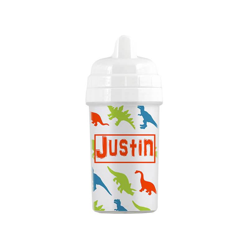 Personalized Dinosaur Pattern Sippy Cup - WallLillies