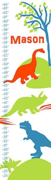 Personalized Dinoland Growth Chart - WallLillies
