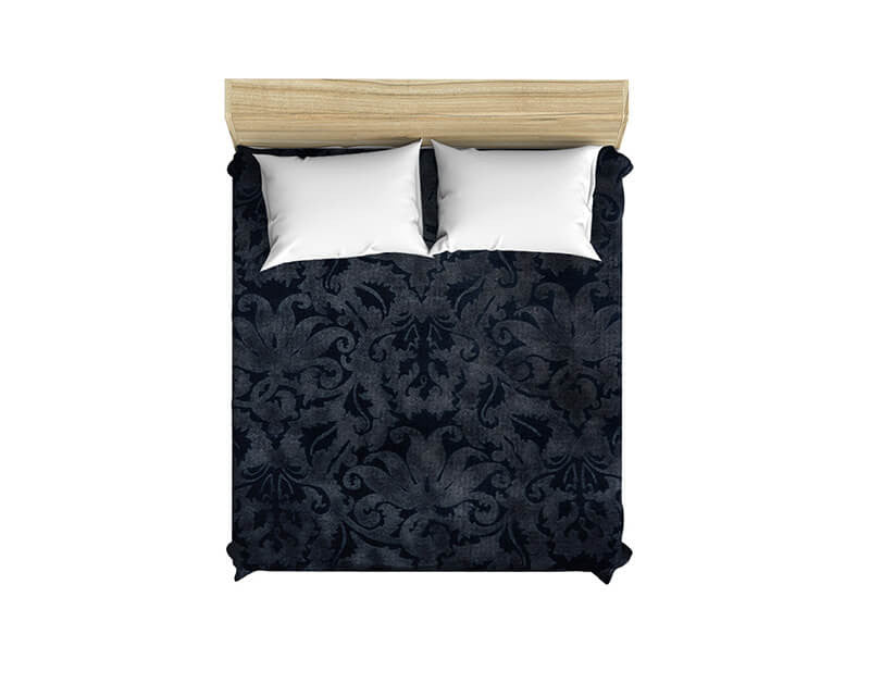 Blue Brocade Duvet Cover - WallLillies