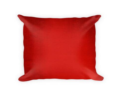 Faded Cranberry Woven Cotton Throw Pillow